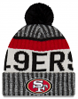 "San Francisco 49ers New Era 2017 NFL ""Sport Knit"" Cuffed Hat with Pom - Reverse"