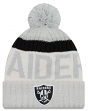 "Oakland Raiders New Era 2017 NFL ""Sport Knit"" Cuffed Hat with Pom - Reverse"
