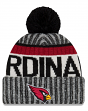 "Arizona Cardinals New Era 2017 NFL ""Sport Knit"" Cuffed Hat with Pom - Reverse"