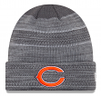 """Chicago Bears New Era 2017 NFL """"Cold Weather TD"""" Knit Hat - Graphite"""