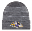 "Baltimore Ravens New Era 2017 NFL ""Cold Weather TD"" Knit Hat - Graphite"