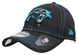 "Carolina Panthers New Era NFL 39THIRTY ""Shock Stitch Neo"" Black Flex Fit Hat"