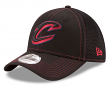 "Cleveland Cavaliers New Era NBA 39THIRTY ""Shock Stitch Neo"" Black Flex Fit Hat"