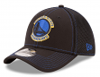 "Golden State Warriors New Era NBA 39THIRTY ""Shock Stitch Neo"" Black Flex Fit Hat"