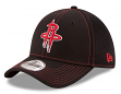 "Houston Rockets New Era NBA 39THIRTY ""Shock Stitch Neo"" Black Flex Fit Hat"