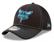 "Charlotte Hornets New Era NBA 39THIRTY ""Shock Stitch Neo"" Black Flex Fit Hat"