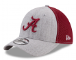 "Alabama Crimson Tide New Era NCAA 39THIRTY ""Heathered Gray Neo 2"" Flex Fit Hat"