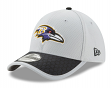 Baltimore Ravens New Era NFL 39THIRTY 2017 Sideline Gray Flex Fit Hat