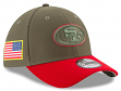 "San Francisco 49ers New Era NFL 39THIRTY 2017 Sideline ""Salute to Service"" Hat"
