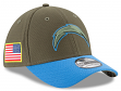 "Los Angeles Chargers New Era NFL 39THIRTY 2017 Sideline ""Salute to Service"" Hat"