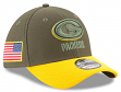 """Green Bay Packers New Era NFL 39THIRTY 2017 Sideline """"Salute to Service"""" Hat"""
