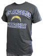 Los Angeles Chargers Majestic NFL Heart & Soul III Charcoal Men's T-Shirt