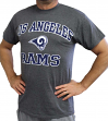 Los Angeles Rams Majestic NFL Heart & Soul III Charcoal Men's T-Shirt
