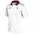 Arizona State Sun Devils Adidas NCAA 2017 Sideline Coaches Polo Shirt - White