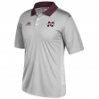 Mississippi State Bulldogs Adidas NCAA 2017 Sideline Coaches Polo Shirt - Gray