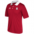 North Carolina State Wolfpack Adidas NCAA 2017 Sideline Coaches Polo Shirt - Red