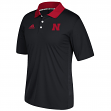Nebraska Cornhuskers Adidas NCAA 2017 Sideline Coaches Polo Shirt - Black
