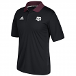 Texas A&M Aggies Adidas NCAA 2017 Sideline Coaches Polo Shirt - Black