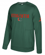 Miami Hurricanes Adidas NCAA Men's Sideline Player Crew Sweatshirt