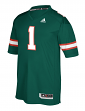 Miami Hurricanes Adidas NCAA Men's #1 Premier Football Jersey - Green
