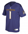 East Carolina Pirates Adidas NCAA Men's #1 Replica Football Jersey - Purple