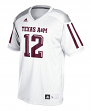 Texas A&M Aggies Adidas NCAA Men's #12 Replica Football Jersey - White