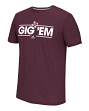 "Texas A&M Aggies Adidas NCAA ""Dassler Local"" Men's Climalite S/S T-Shirt"
