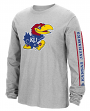 "Kansas Jayhawks Adidas NCAA ""Sleeve Play"" Men's Long Sleeve T-shirt"