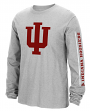 "Indiana Hoosiers Adidas NCAA ""Sleeve Play"" Men's Long Sleeve T-shirt"
