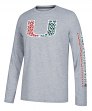"Miami Hurricanes Adidas NCAA ""Play to Win"" Men's Climalite Long Sleeve T-shirt"