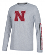 Nebraska Cornhuskers Adidas NCAA Play to Win Men's Climalite Long Sleeve T-shirt