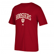 "Indiana Hoosiers Adidas NCAA ""Pastime Arch"" Men's Premium Short Sleeve T-Shirt"