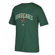 "Miami Hurricanes Adidas NCAA ""Pastime Arch"" Men's Premium Short Sleeve T-Shirt"