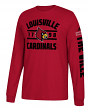 "Louisville Cardinals Adidas NCAA ""Schooled"" Men's Long Sleeve T-shirt"