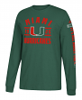 "Miami Hurricanes Adidas NCAA ""Schooled"" Men's Long Sleeve T-shirt"