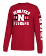 "Nebraska Cornhuskers Adidas NCAA ""Schooled"" Men's Long Sleeve T-shirt"