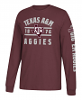 "Texas A&M Aggies Adidas NCAA ""Schooled"" Men's Long Sleeve T-shirt"