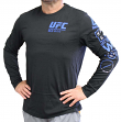 "UFC Ultimate Fighting Reebok ""Fan Gear"" Men's Long Sleeve T-shirt - Black"