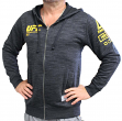 "UFC Ultimate Fighting Reebok ""Fan Gear"" Men's Full Zip Hooded Sweatshirt - Black"