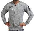 "UFC Ultimate Fighting Reebok ""Fan Gear"" Men's Full Zip Hooded Sweatshirt - Chalk"