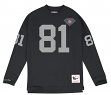 "Tim Brown Oakland Raiders Mitchell & Ness NFL Men's ""Go Long""  L/S Shirt"