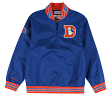 "Denver Broncos Mitchell & Ness NFL Men's ""Endzone"" 1/4 Zip Pullover Jacket"