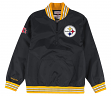 "Pittsburgh Steelers Mitchell & Ness NFL Men's ""Endzone"" 1/4 Zip Pullover Jacket"