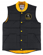 """Pittsburgh Steelers Mitchell & Ness NFL Men's """"Play Clock"""" Throwback Vest Jacket"""