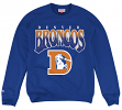 "Denver Broncos Mitchell & Ness NFL ""Rushing Line"" Men's Crew Sweatshirt"