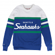 "Seattle Seahawks Mitchell & Ness NFL ""Head Coach"" Men's Premium Crew Sweatshirt"
