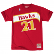 "Dominique Wilkins Atlanta Hawks Mitchell & Ness NBA Men's ""Player"" S/S T-Shirt"