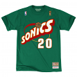 "Gary Payton Seattle Supersonics Mitchell & Ness NBA Men's ""Player"" S/S T-Shirt"