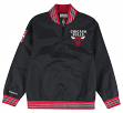 "Chicago Bulls Mitchell & Ness NBA Men's ""Rebound"" 1/4 Zip Pullover Black Jacket"