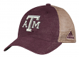 "Texas A&M Aggies Adidas NCAA ""Over Dye"" Adjustable Slouch Mesh Back Hat"